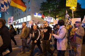 Convicted neonazi terrorist among the racist rally.