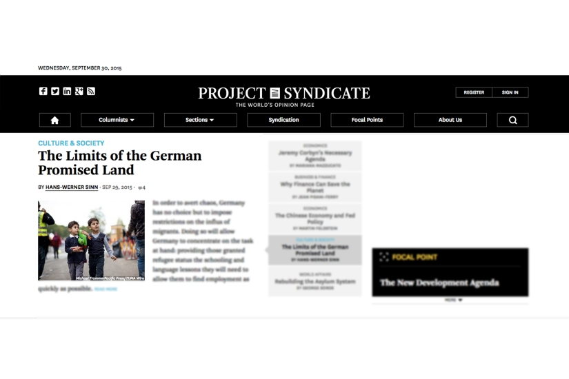 "publication ""project syndicate"" / 30-09-15"