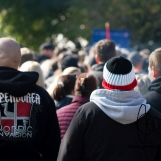 Neonazis merge with AfD protestors demanding a lock down of all borders.