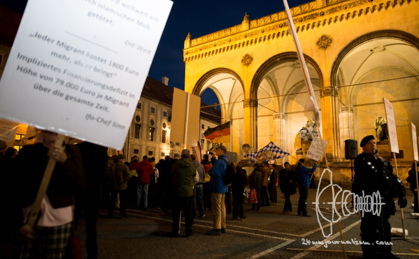 PEGIDA Munich marches – board-member suspect in terror investigation – freedom of pressrestricted