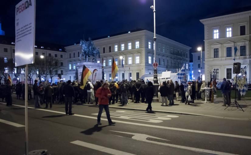 PEGIDA Munich – photographerhandcuffed