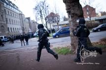 Police running.