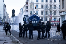 Clashes erupt in Leipzig.