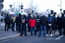 150 neonazis gather - amongst them supporters of the Hells Angels.