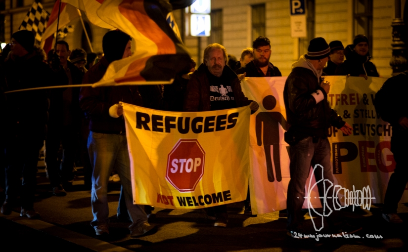 """REFUGEES NOT WELCOME"" Flags and ACAB Sweatshirts"