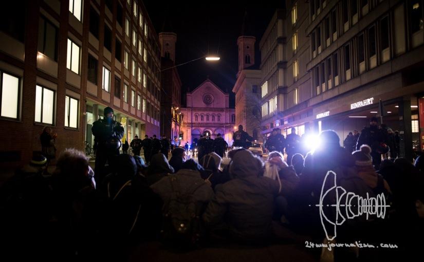 PEGIDA Marches through Stormy Munich as Citizens BlockRoad