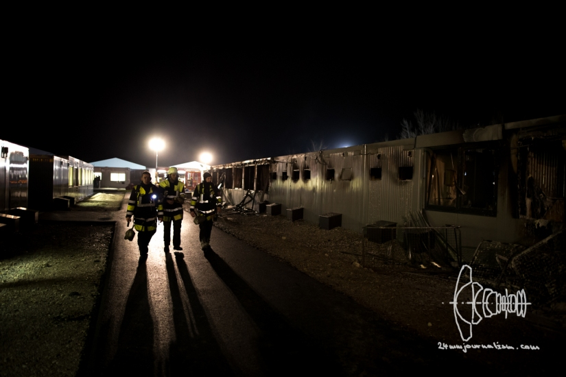 Fire In Newly Opened Refugee HousingContainers