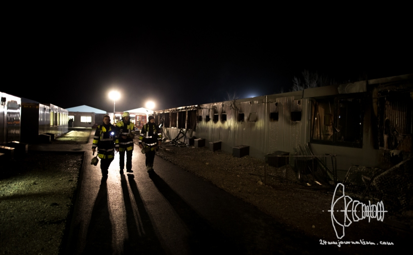Fire In Newly Opened Refugee Housing Containers