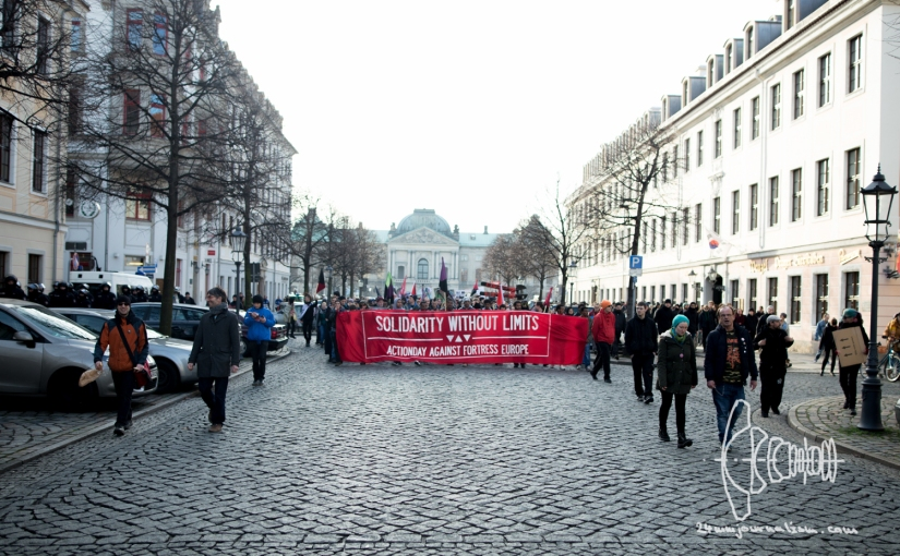 """""""Solidarity without Limits"""" Demonstration inDresden"""