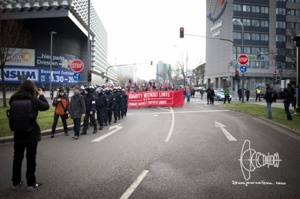 """""""Solidarity without Limits"""" demonstration against PEGIDA on February 6th."""