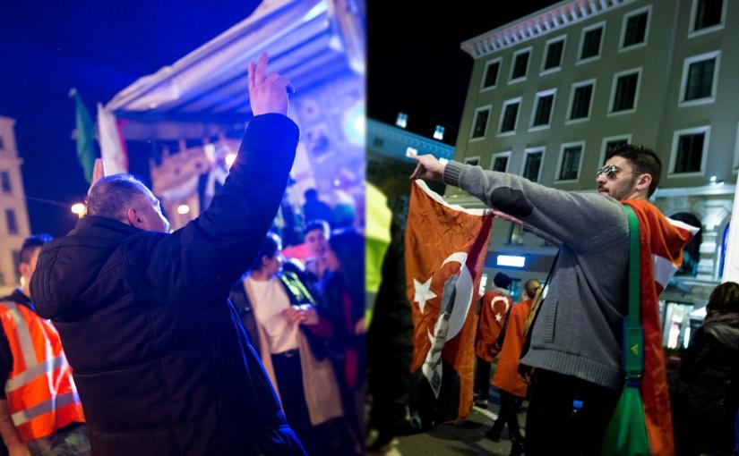 Newroz festivities 2016 in Munich & Turkish nationalistsmarch