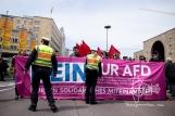 Demonstration in Stuttgart.