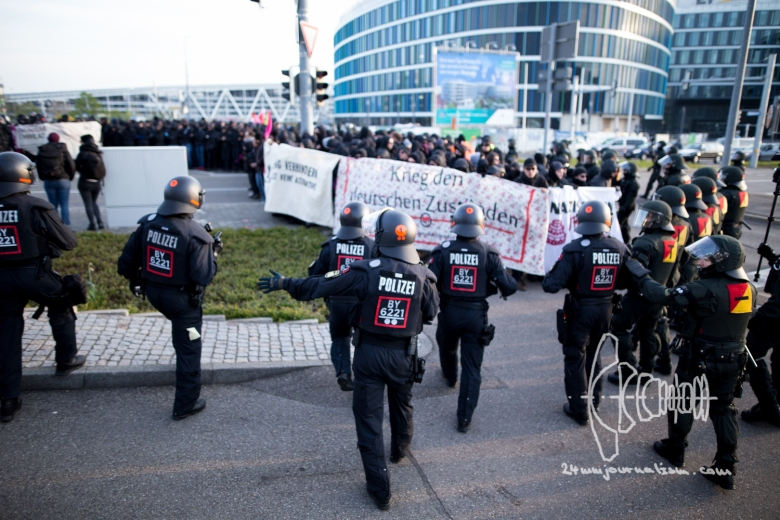 Protests against meeting of AfD in Stuttgart