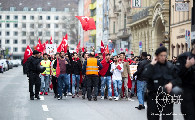 Clashes erupt as Turkish nationalists rally for Peace through Munich