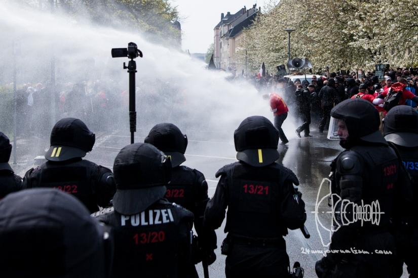 Neonazi demonstration in Plauen errupts in heavy clashes onMayday