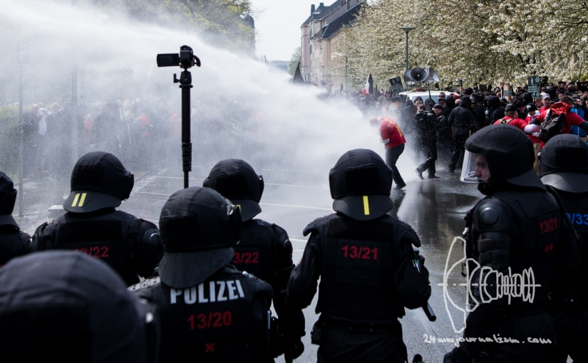 Neonazi demonstration in Plauen errupts in heavy clashes on Mayday
