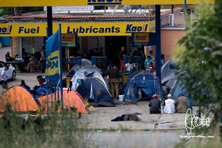 Left refugees at Hotel Ara.