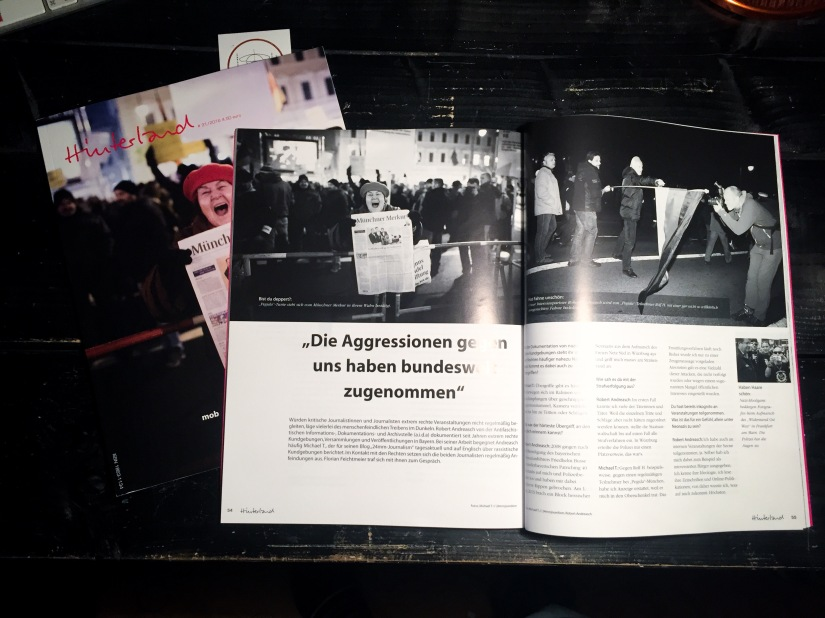 "publication ""Hinterland"" magazine – frontpage & interview"