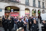 PEGIDA gets surrounded by police.