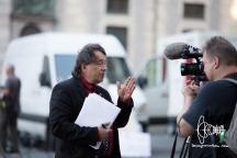 PEGIDA speaker gives an interview