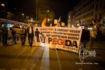PEGIDA marches towards Sendlinger Tor