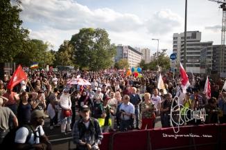 Demonstration ends near AfD headquarter.