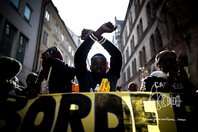Demonstration against Bavarian 'Integration Law' inMunich
