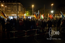 PEGIDA holds rally at Sendlinger Tor without speakers. Racist statements made by Heinz Meyer could be heard by journalists.
