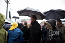 Michael Stürzenberger participates in disturbances before speaking at PEGIDA