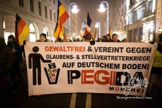 PEGIDA Munich marches - neonazis hold speeches