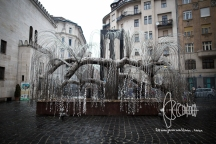 Weeping willow memorial for victims of the Shoah.