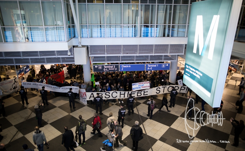 Deportation to Afghanistan from Munich – Protestors Gather at Munich Airport