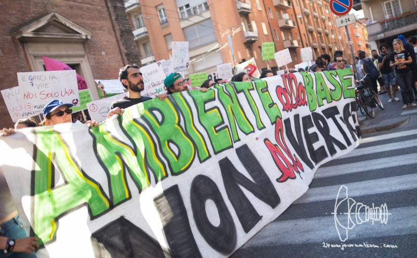 Protest against G7 Ministerial Meeting on Environment in Bologna